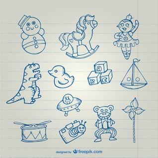Colección dibujos Juguetes