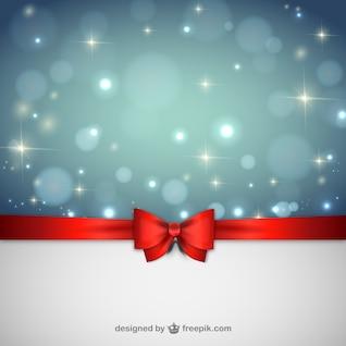 Fondo de la Navidad con la cinta roja