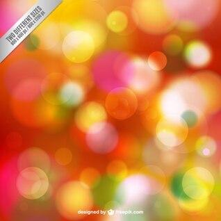Resumen de antecedentes con chispas de colores