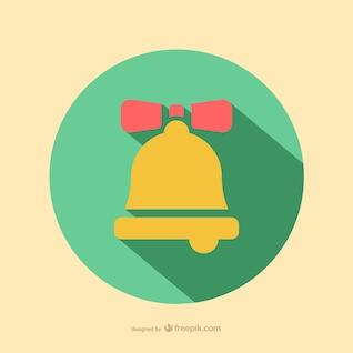 Icono de campana de Navidad