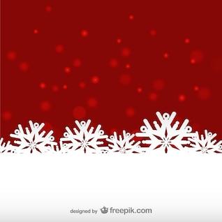 Rojo y blanco de fondo en invierno