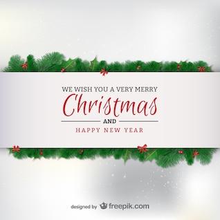 Elegante tarjeta de Navidad minimalista