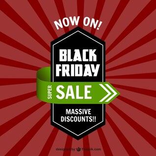 Negro etiqueta de venta el viernes