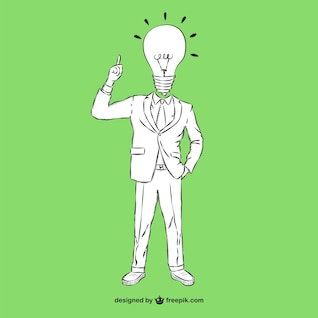 El hombre con el concepto de idea