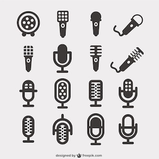 Iconos Pack de micrófonos