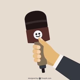 Vector de la historieta del micrófono