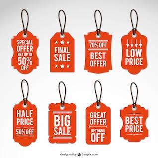 Etiquetas de las ventas de la vendimia