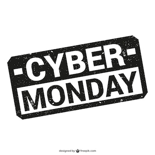 Cyber ​​Monday sello vector