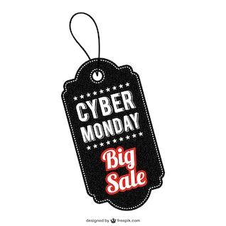 Cyber Monday etiqueta de venta