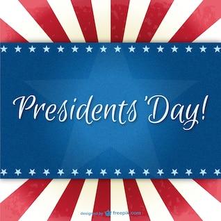 Día de los Presidentes del vector del fondo
