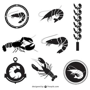 Paquete de vectores de camarón