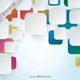 Fondo con los cuadrados blancos y de colores