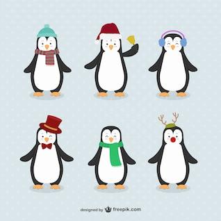 Dibujos animados de pingüinos paquete