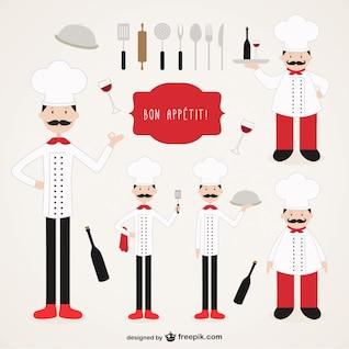 Colección Chefs ilustraciones