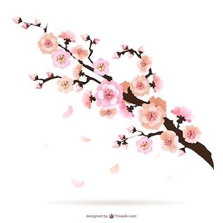 Cereza ilustración flor