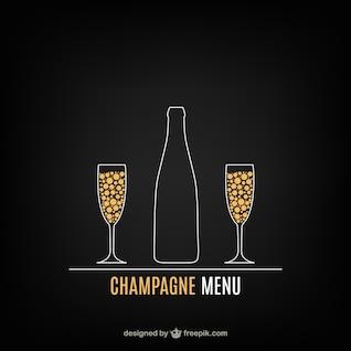Menú Champagne vector