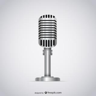 Micrófono ilustración vectorial