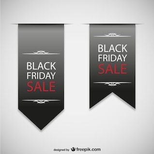 Negro etiquetas de venta Viernes