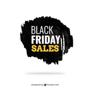 Negro etiqueta de ventas de tinta Viernes