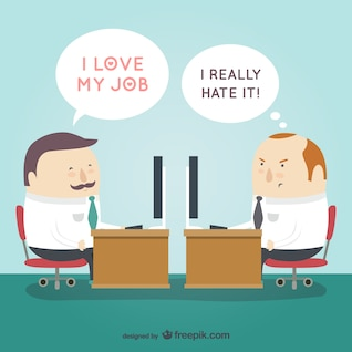 Amar u odiar a su vector de trabajo