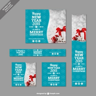 Navidad plantillas de banner paquete
