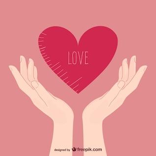 Ilustración del amor con las manos