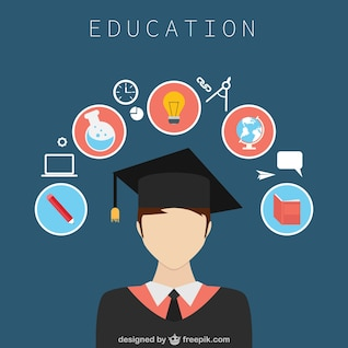 Diseño de Educación con iconos