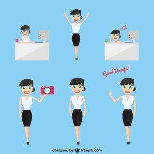 Mujer de negocios en compañía de diseño