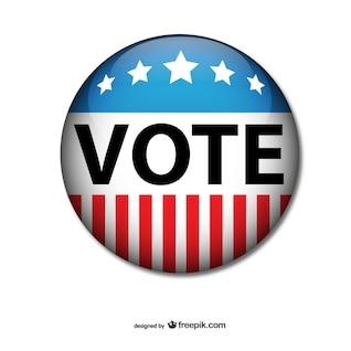 Insignia vector voto