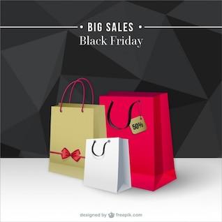 Fondo de grandes ventas de Black Friday