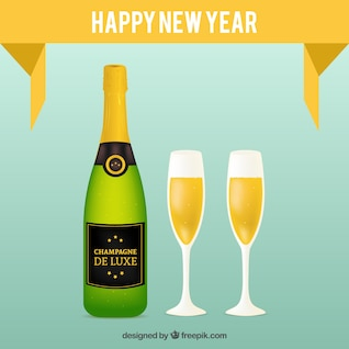 Botellas de champán para la celebración