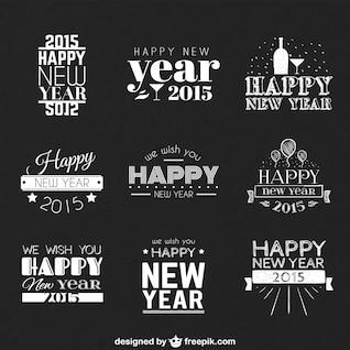 Feliz Año Nuevo saludos vectores