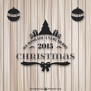 Muy Feliz 2015 Tarjeta de Navidad