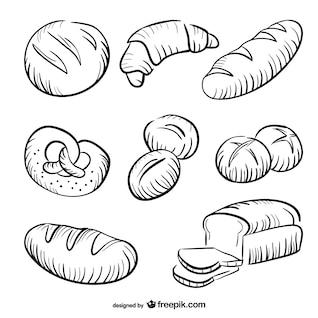 Colección de dibujos de panes
