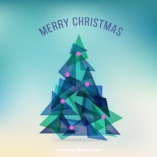 Árbol de Navidad abstracto de triángulos