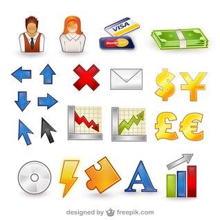 paquete de vectores conjunto de iconos finanzas