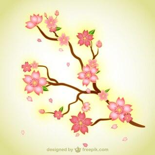 Rama con flores ilustración