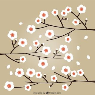 Cerezos en flor de ilustración