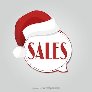 Etiqueta de las ventas de Navidad