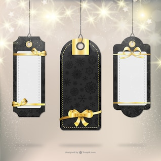 Elegantes etiquetas de regalo de Navidad