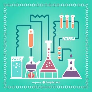 Tubos de ensayo fijado laboratorio