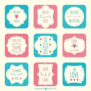Elementos del libro de recuerdos de San Valentín