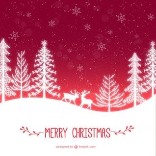 Tarjeta de la época de Navidad