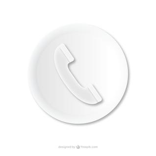 Llamada telefónica icono en relieve