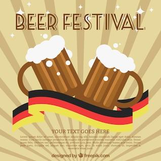 Fiesta de la cerveza vector
