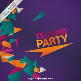 Diseño de la fiesta Techno
