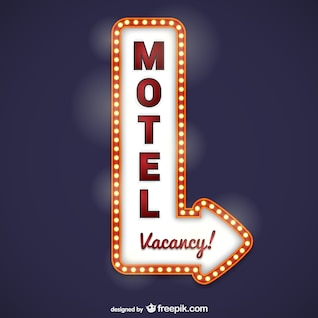 Cartel luminoso de motel