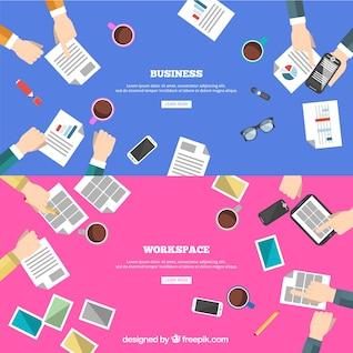 La creatividad y el trabajo en equipo de negocios