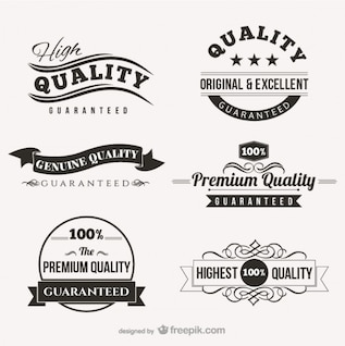 Sellos de calidad y etiquetas