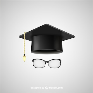 Graduación sombrero y gafas